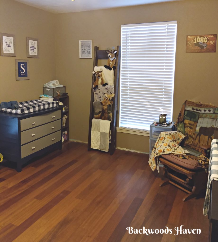 BLUE AND WHITE CHECKED WOODLAND NURSERY