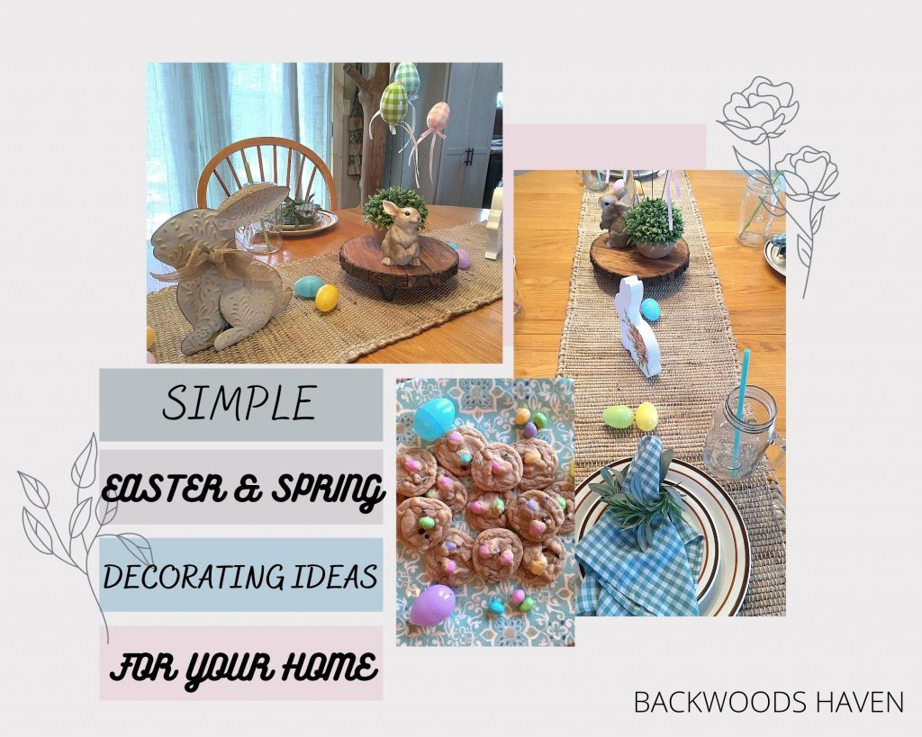SIMPLE EASTER AND SPRING DECORATING IDEAS FOR YOUR HOME  COLLAGE