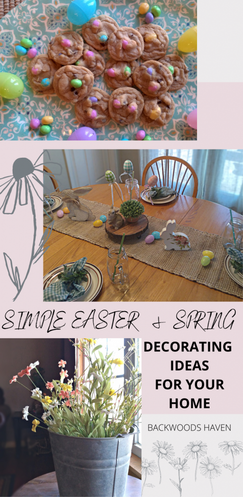 SIMPLE EASTER & SPRING DECORATING IDERAS FOR YOUR HOME PINITEREST PIN