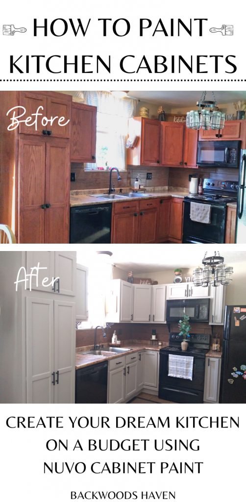 How to paint your kitchen cabinets with nuvo paint kit Pinterest pin