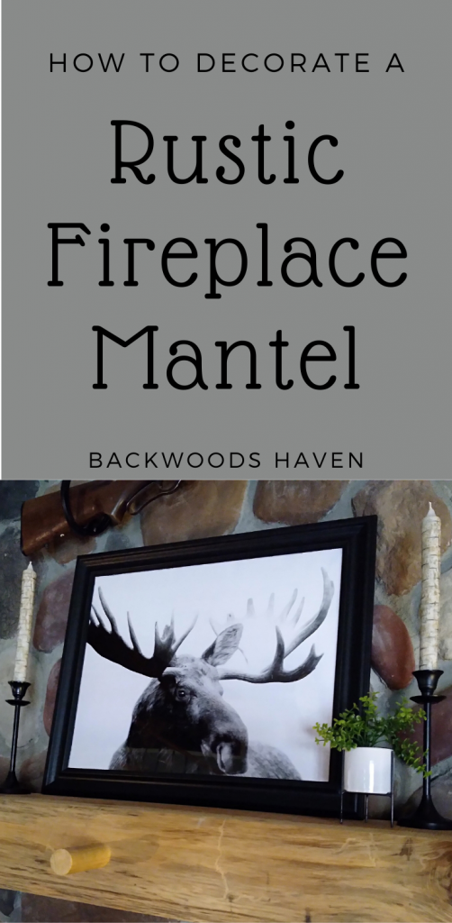 How to decorate a rustic fireplace mantel pin