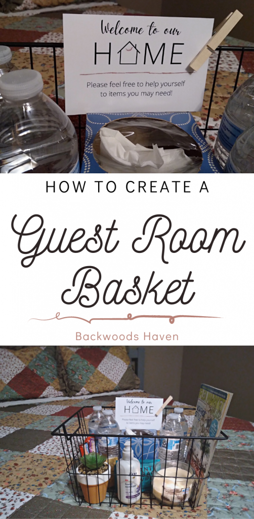 How to create a guest room basket