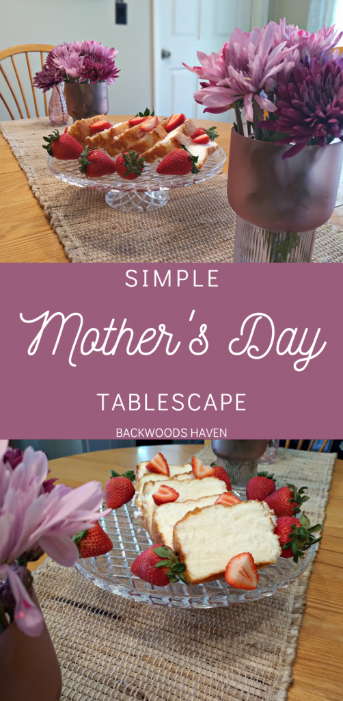 SIMPLE MOTHERS DAY TABLESCAPE