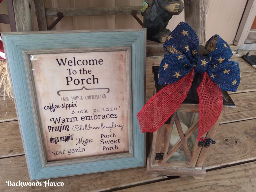 welcome to the porch free printable