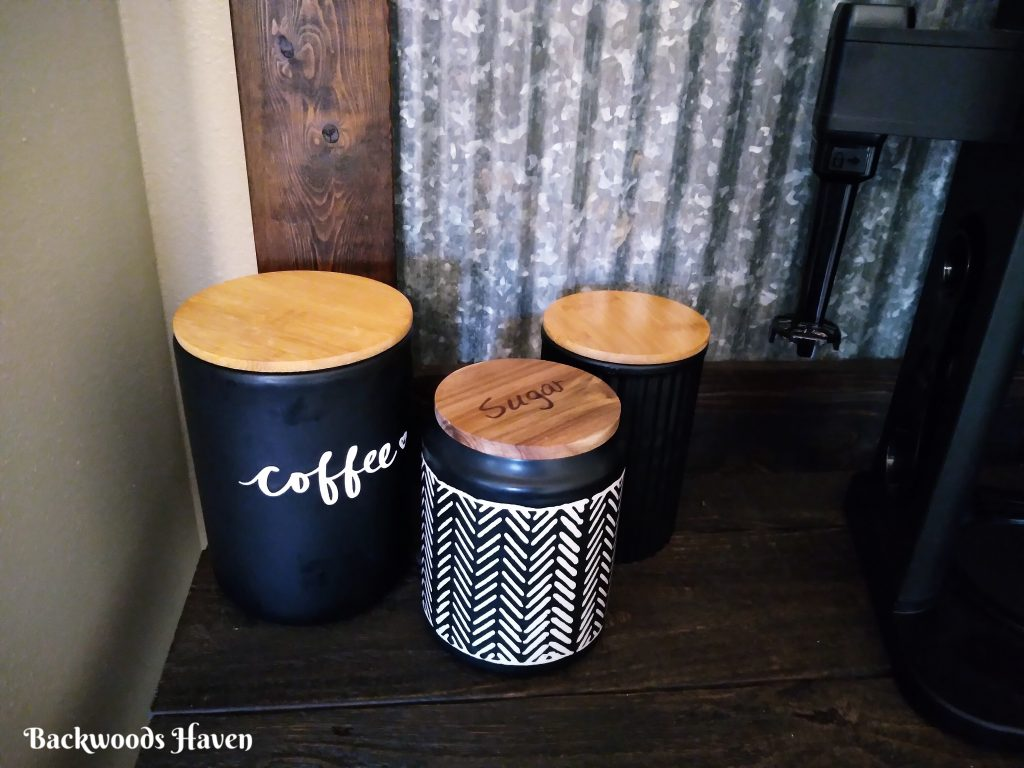 coffee and sugar canisters