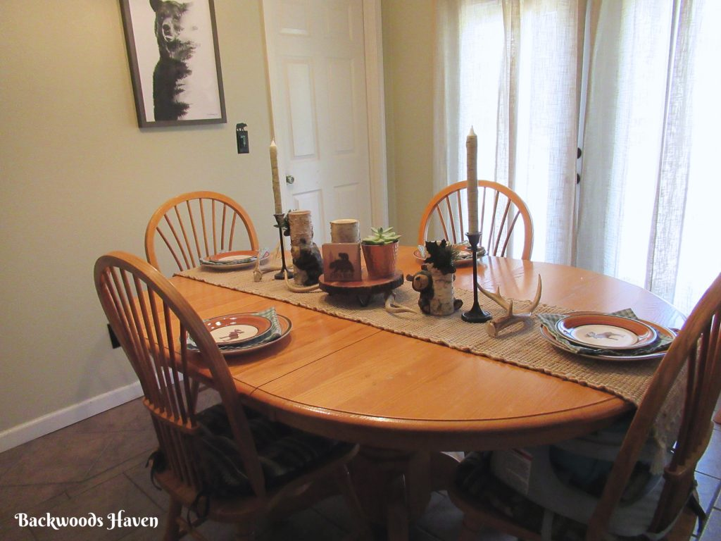 Fathers day woodland tablescape