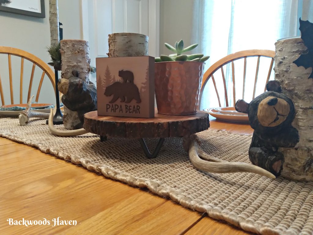 Rustic fathers day tablescape