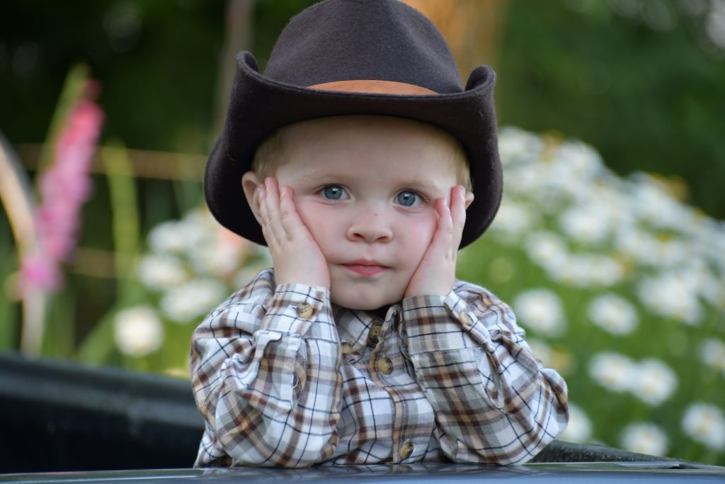 picture of boy with cowboy hat