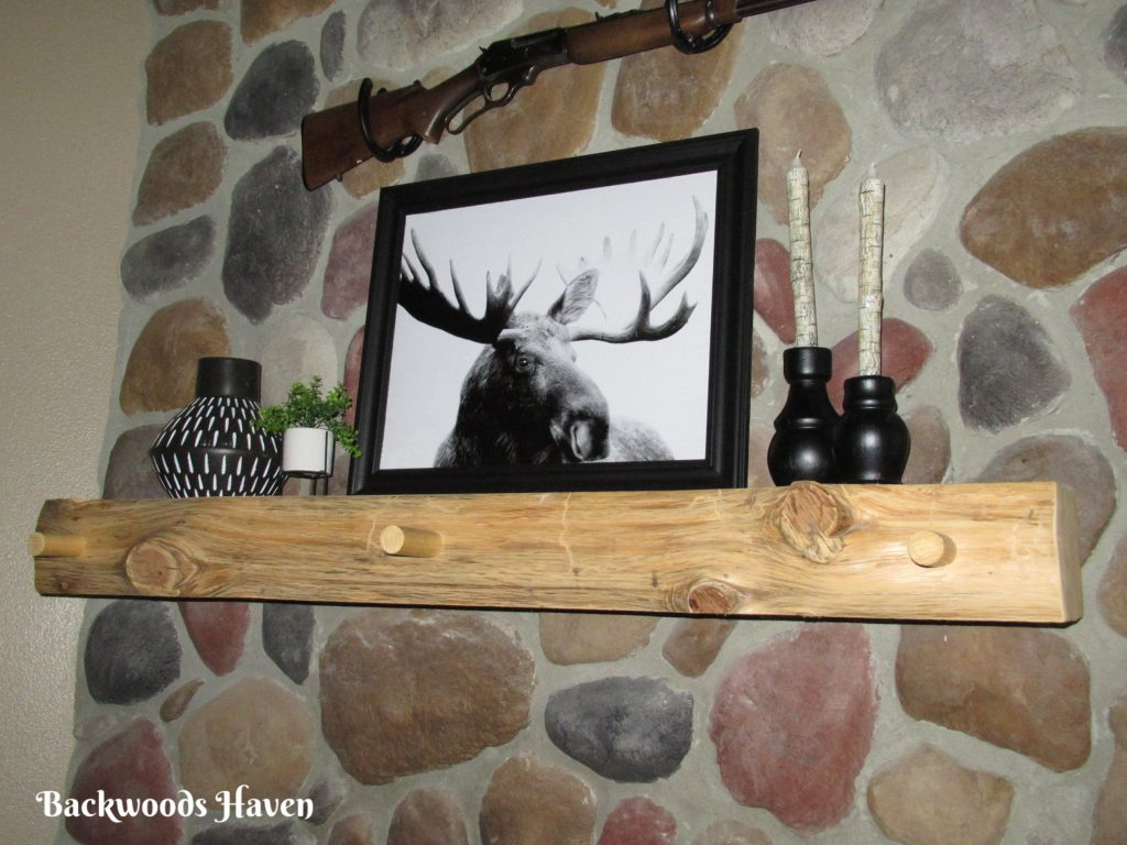 How to decorate a rustic fireplace