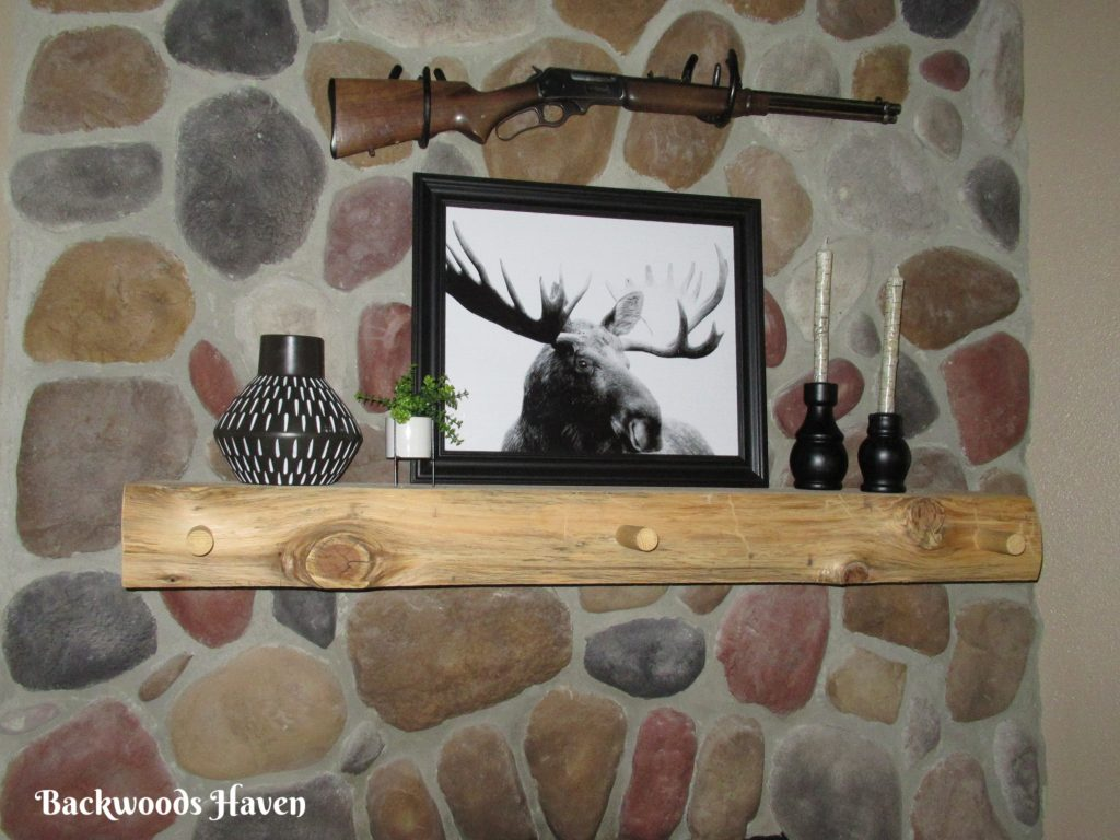 decorating a rustic fireplace