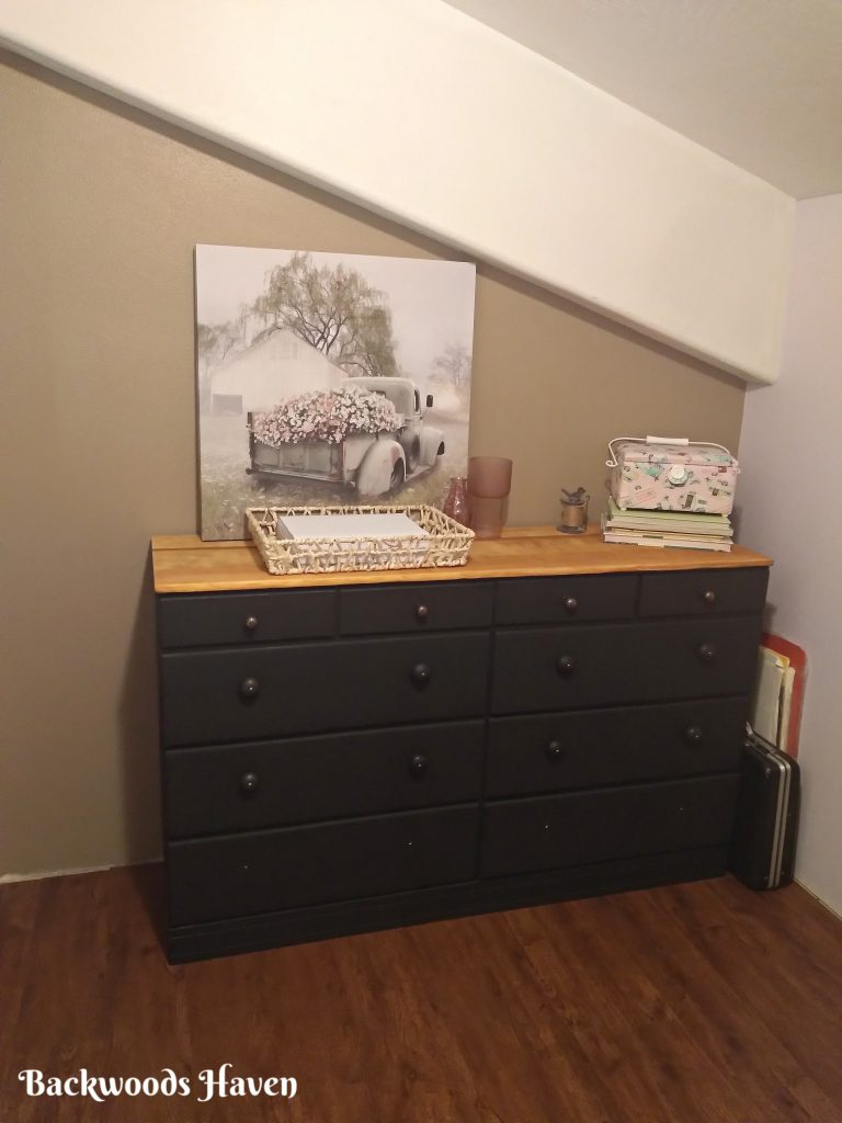 after of the updated old dresser