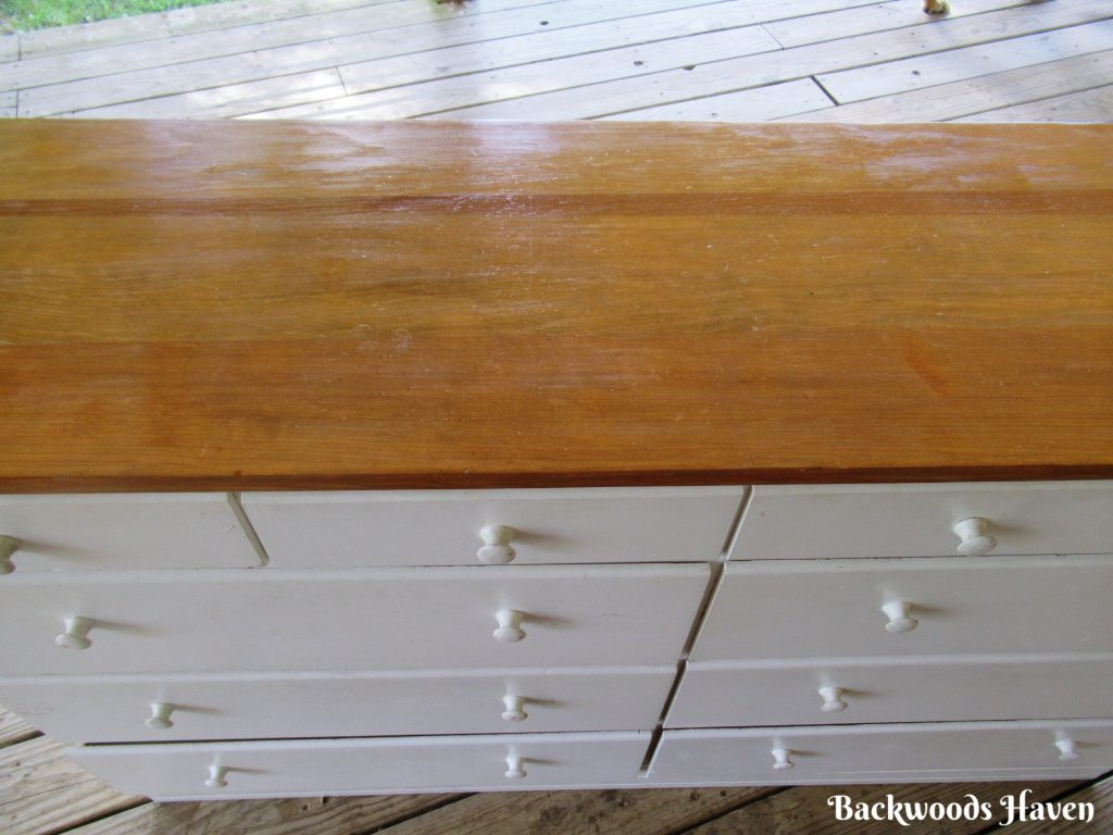 cherry colored stained top