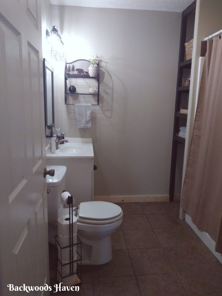 bathroom refresh before and after