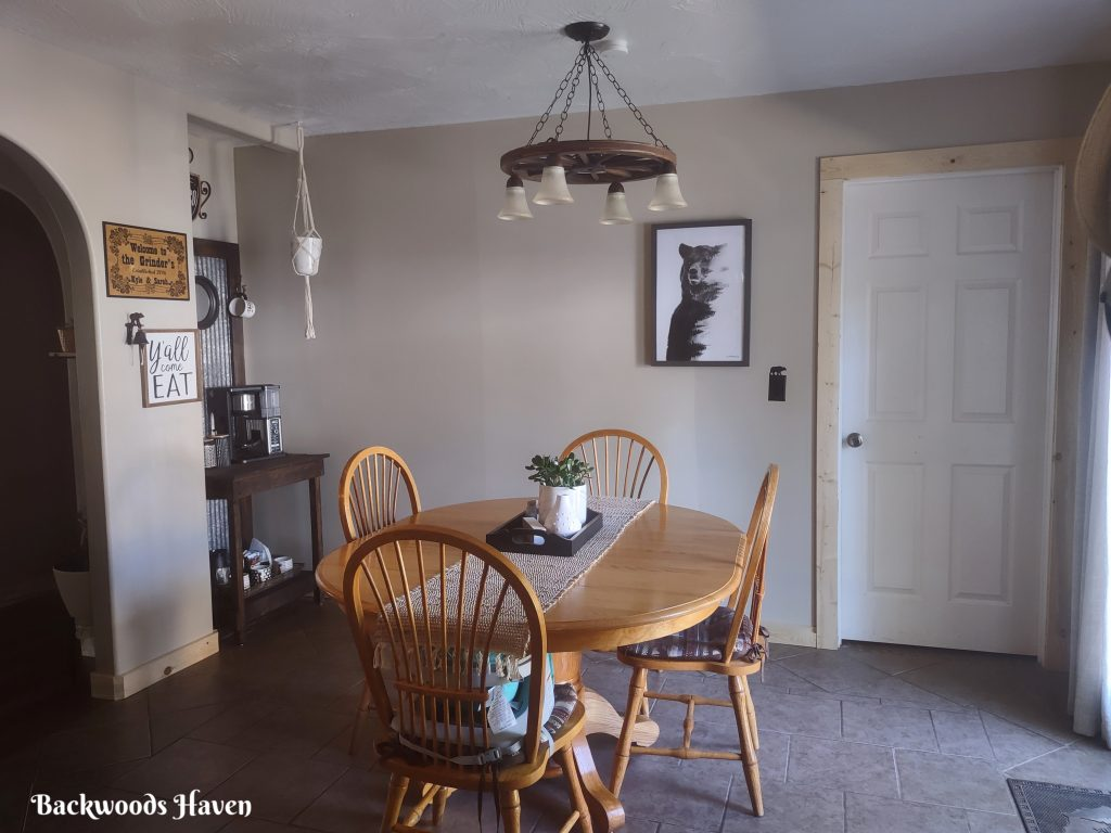 tour our home rustic dinning room