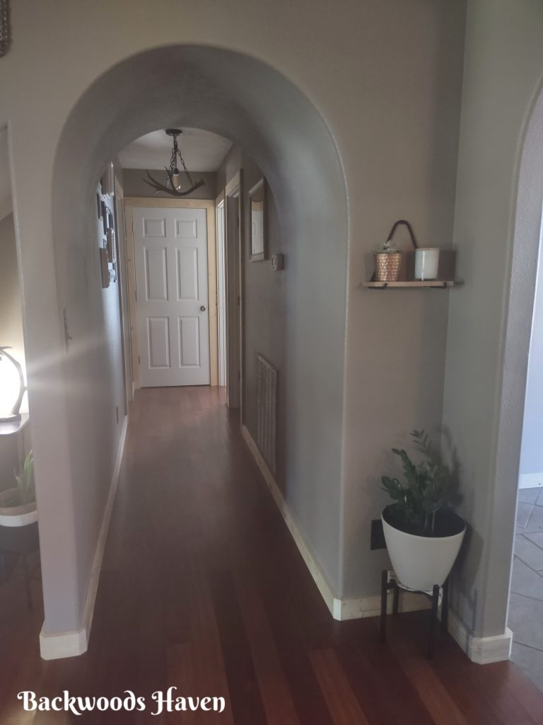 backwoods haven hallway, tour our home